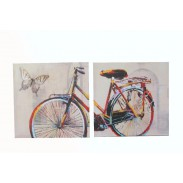 Obraz \COLOURED BICYCLE\ 50x50x2/2dr.