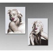 Obraz \MARYLIN-LIPS B&W\ 60x80x3/2dr.
