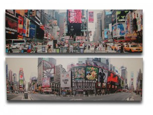 Obraz \NEW YORK-TIME SQ.\ 140x45x4/2dr.