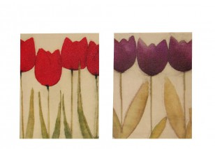 Obraz \PAINTED FLOWERS\ 30x40x2/2dr.