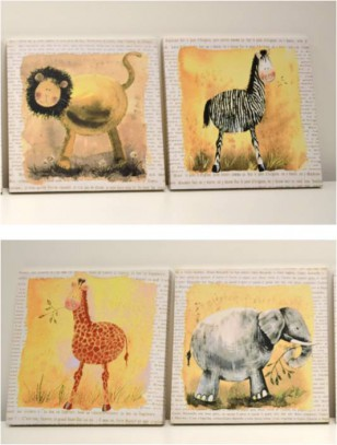 Obraz \WILD ANIMALS\ 50x70x3/4dr.
