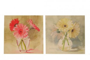Obraz \FLOWERS in VASE\ 50x50x2/2dr.