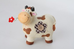 Figurka \COW with BUTTON\ 11x6x12cm