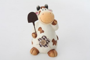 Figurka \COW with BUTTON II.\ 9x13cm