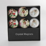 Sada 6ks magnetů \ANGELS-glass\ 4cm/3dr.