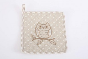 Chňapka \OWL-NATURAL-square\ 20x20cm