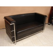 Sofa \PU METAL BLACK\ 150x63x75cm