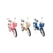 Dekorace \BICYCLE with BASKET\ 17x6x9/3b